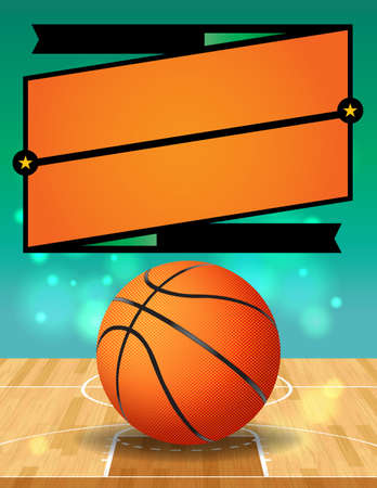 league: A vector illustration for a basketball league.  Illustration