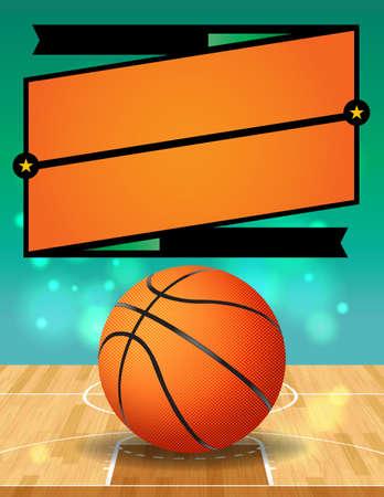 Een vector illustratie voor een basketbal competitie.