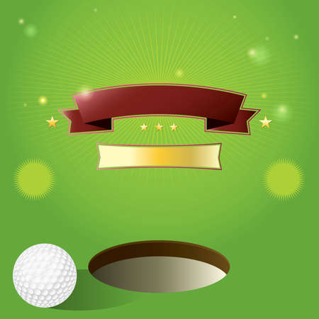 updating: A nice design for a golf tournament invitation. Elements are layered for easy updating of information or addingremoving from the design.