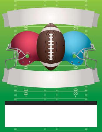 nfl football: American football party illustration.  Illustration