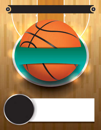 A basketball tournament template illustration. File is layered.
