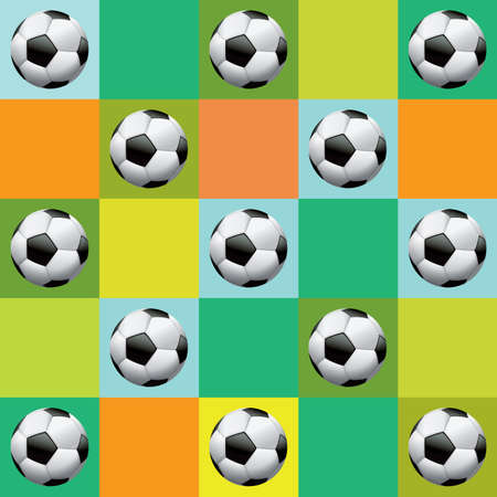 photo realism: Vector soccer pattern background.