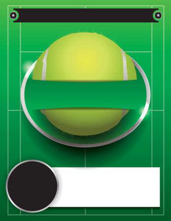 wimbledon: A tennis tournament illustration.