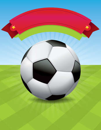 photo realism: A nice design for a soccer tournament, event, tryouts, and more.