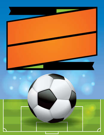 league: A vector illustration for an American Soccer League flyer.  Illustration