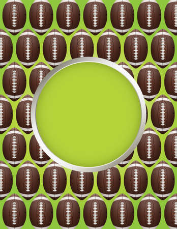 football field: An American Football flyer design perfect for tailgate parties, football invites, etc.