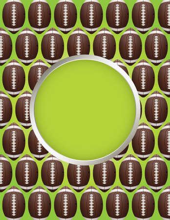 campo di calcio: Un volantino di progettazione football americano ideale per feste portellone posteriore, inviti di calcio, etc.
