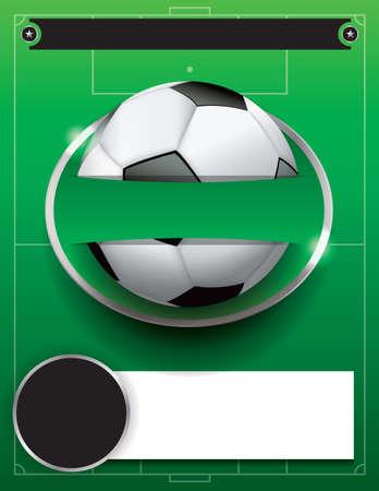 A soccer tournament illustration.  Иллюстрация