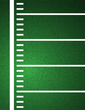 An American Football field sideline and yardline textured field background illustration.