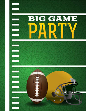 superbowl: An illustration for an American Football Big Game Party.
