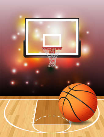 photo realism: Basketball illustration. Illustration