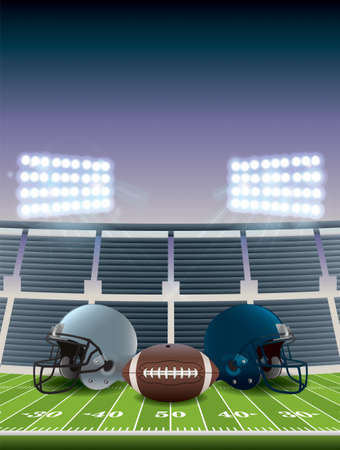 An illustration for an American football championship game.