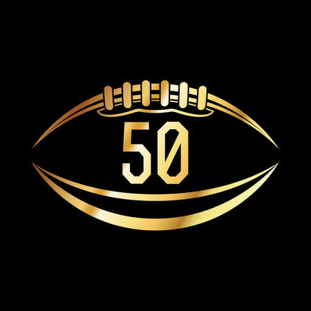 An american football emblem with the number 50.