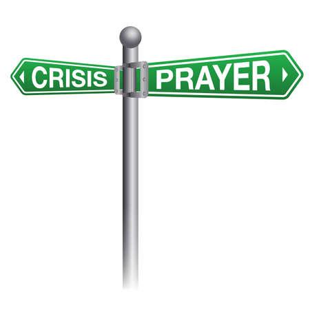 An illustration depicting prayer during crisis theme. Ilustrace