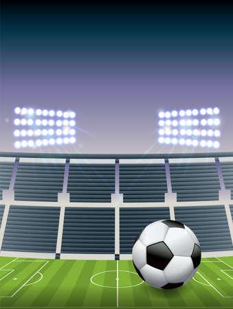 An illustration for a soccer football stadium. Ilustração