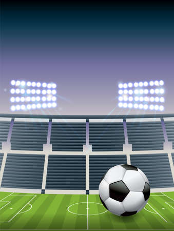 photo realism: An illustration for a soccer football stadium. Illustration