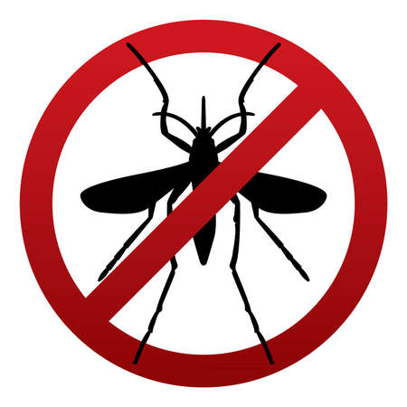virus: A symbol sign warning against mosquito insects. Zika Virus warning sign. Vector EPS 10 available.