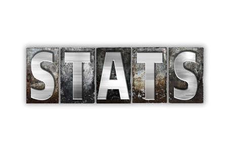 """demografia: La palabra """"estadísticas"""" escrito en el tipo de cosecha tipografía de metal aislado en un fondo blanco. Foto de archivo"""