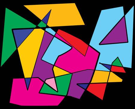cubismo: Un extracto colorido cubismo ilustración de fondo. Vectoriales EPS 10 disponible. Vectores