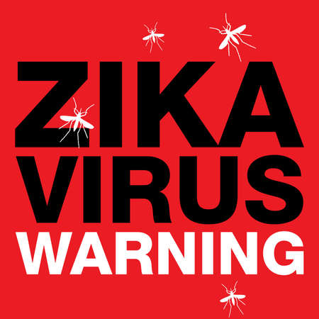 cure: A Zika Virus warning with mosquito silhouettes.