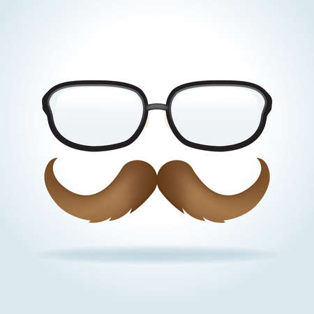 pair of glasses: A pair of mens glasses and mustache creative illustration. Vector EPS 10 available. Illustration