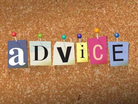 「アドバイス」で書かれた単語の文字をカット、コルク掲示板図に固定します。
