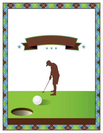 A template for a golf tournament scramble invitation flyer. Vector EPS 10 available.
