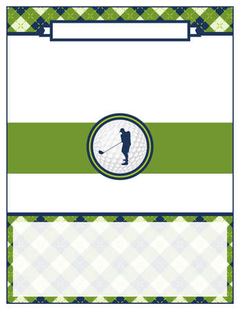 A template for a golf tournament scramble invitation flyer. Vector EPS 10 available.  イラスト・ベクター素材