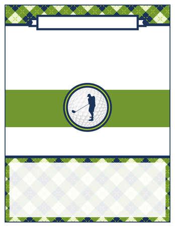 Un modèle pour une invitation de scramble flyer tournoi de golf. Vecteur EPS 10 disponibles.