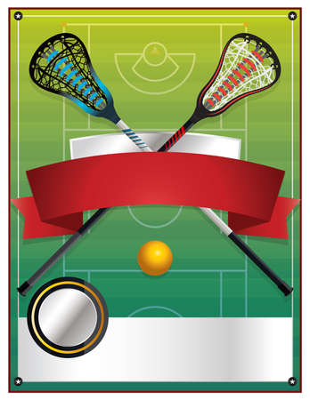 lax: A blank flyer template for a lacrosse event. Vector EPS 10 available. Illustration