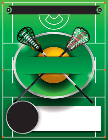 tournament bracket: A flyer template for a lacrosse event. Vector EPS 10 available. Illustration