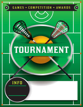 A lacrosse tournament flyer template. Vector EPS 10 available. EPS type has been converted to outlines.