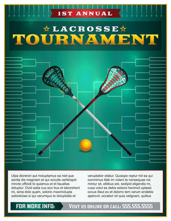 tournament bracket: A template design for a lacrosse tournament. Vector EPS 10 available. Copy has been converted to outlines but is layered.