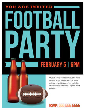 bowl game: A template illustration for an American football party. Vector EPS 10 available. Illustration