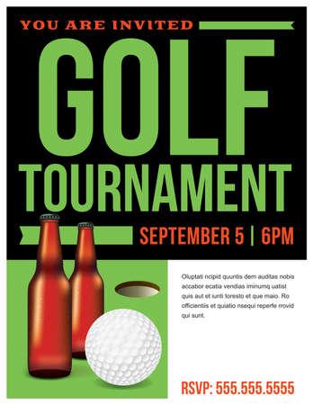 ゴルフ トーナメントのイラスト テンプレートです。ベクター EPS 10 利用できます。