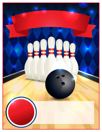 bowling alley: A blank bowling flyer template great for birthday parties, bowling leagues and tournaments.