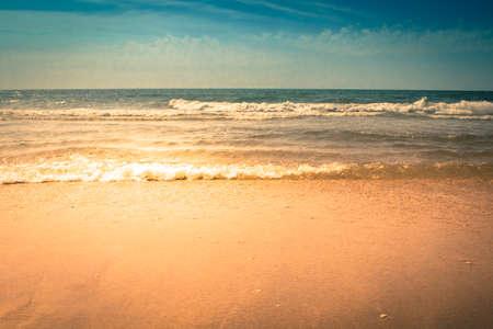 myrtle beach: Waves crashing on the beach in Myrtle Beach, South Carolina.