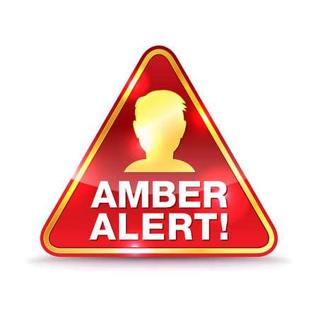 Un'icona per un messaggio di avvertimento Amber Alert.