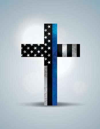 Una croce cristiana che mostra il supporto per l'applicazione della legge.