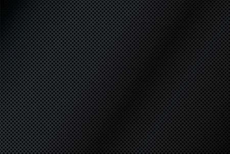A background illustration of black metal mesh. Ilustração