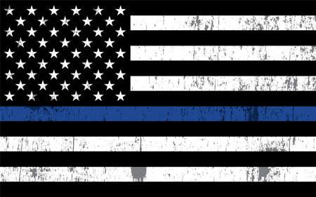An American flag symbolicznym wsparciem dla organów ścigania.