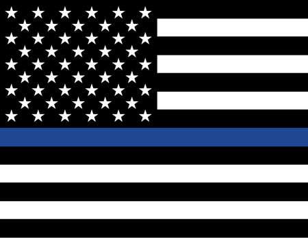 enforcement: An American flag law enforcement support flag.