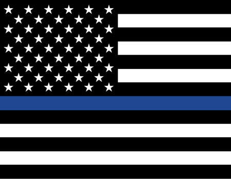 An American flag law enforcement support flag.