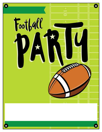 superbowl: A blank American football party flyer template illustration.
