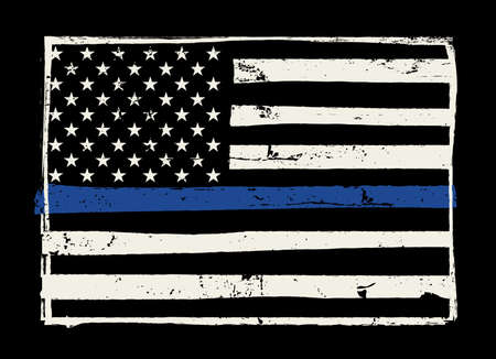 enforcement: An American flag symbolic of support for law enforcement.