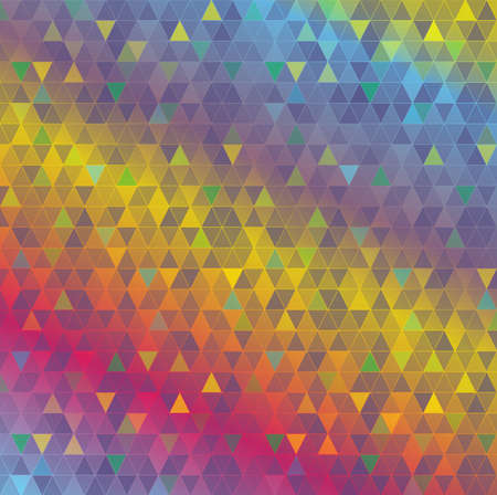 An abstract background made from colorful geometric triangles. Çizim