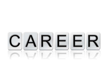 The word Career written in tile letters isolated on a white background.