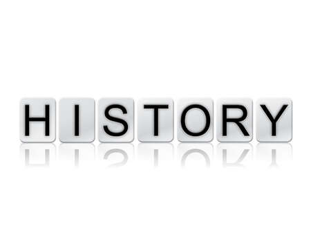 yesteryear: The word History written in tile letters isolated on a white background.