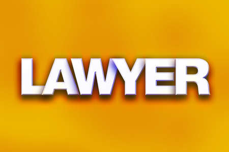 The word Lawyer written in white 3D letters on a colorful background concept and theme. Фото со стока