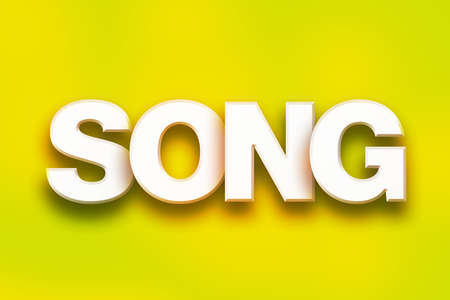 chorale: The word Song written in white 3D letters on a colorful background concept and theme.